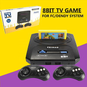 Retro TV Video Game Console For 8bit FC/ Dendy Games with Two Gamepads FEI HAO FC Compact FH-012 support yellow game cartridge