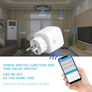 Image 3 - WiFi חכם תקע מתאם שקע עובד 16A האיחוד האירופי שקע Wifi Reomote בקרת קול בקרת עובד עם HomeKit Google בית Alexa