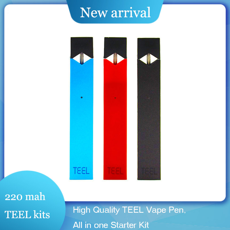 High Quality TEEL Vape Pen 220 mah All in one Starter Kit LED indicating Pod System e Cigarette Kits Fit For Juul Pods/Atomizer