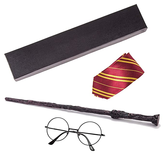 Potters Magic Wands Cosplay  Magical Wand Harried With Ties Glasses Children Gift With Box