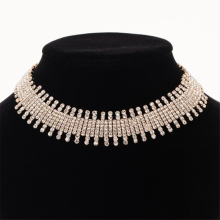 Rhinestone Chokers Necklace Bib Statement Necklace For women Luxury crystal Necklace Collar Maxi jewelry necklace for women N303 цена 2017