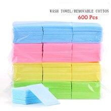 600 pçs/saco removedor de esmalte de unha toalhetes limpeza almofada de papel livre embeber fora removedor manicure ferramenta