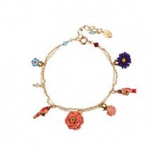 French creative new product wild parrot peony flower multi-drop bracelet bracelet Europe, Japan and Korea jewelry