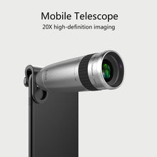 Universal Clip 20X Mobile Phone Telephoto Telescope Head Zoom External Camera HD Anti-mobile Telescope for iPhone Samsung Xiaomi(China)