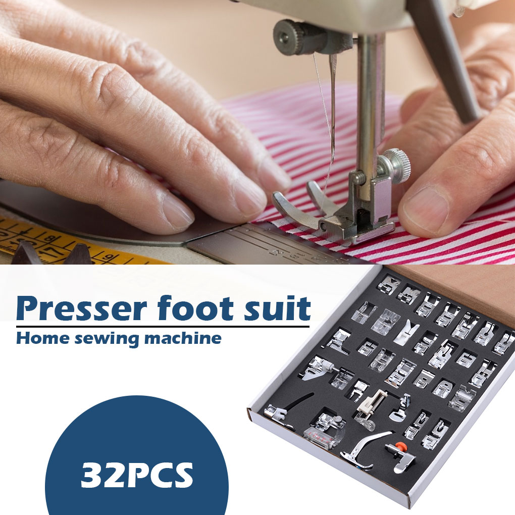 New 15 Piece Low Shank Sewing Machine Presser Feet Set Walking Foot Kit #W