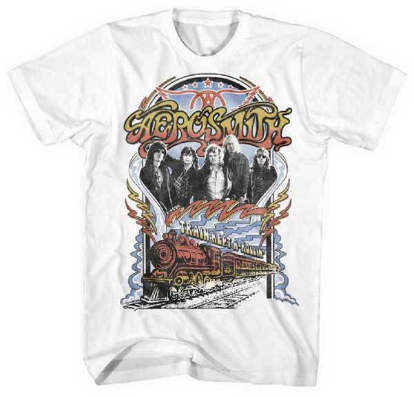 Aerosmith Train Kept A Rollin T Shirt S 2Xl New Official Live Nation Merchandise