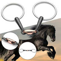 Curved Polished Training Professional Stainless Steel Mini Snaffle Bit Roller Portable Loose Ring Accessories Horse Mouth