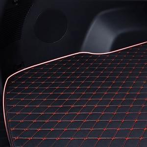 Image 4 - Leder Kofferraum Matte Für BMW X4 G02 2018 2019 2020 Stamm Boot Mat X4 Liner Pad BMW G02 30i fracht pad Teppich Schwanz Cargo Liners