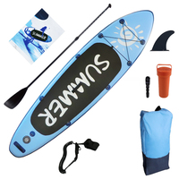 Surfboard Surf Kayak Sport Stream Blue Boat Pvc 300x80x15cm Inflatable Sup Board Stand Up Paddle Board Wakeboard Surf Board