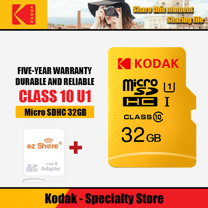 Ez Share Wireless Wifi Adapter+Kodak Micro SD Card 16 32 64 128gb Class10 Microsd Wifi Wireless Tf Flash Card Memory Card