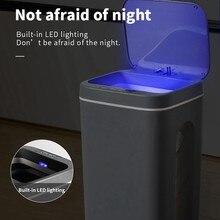 16l lata de lixo inteligente sensor automático dustbin inteligente sensor elétrico lixeira casa lata de lixo para cozinha banheiro lixo
