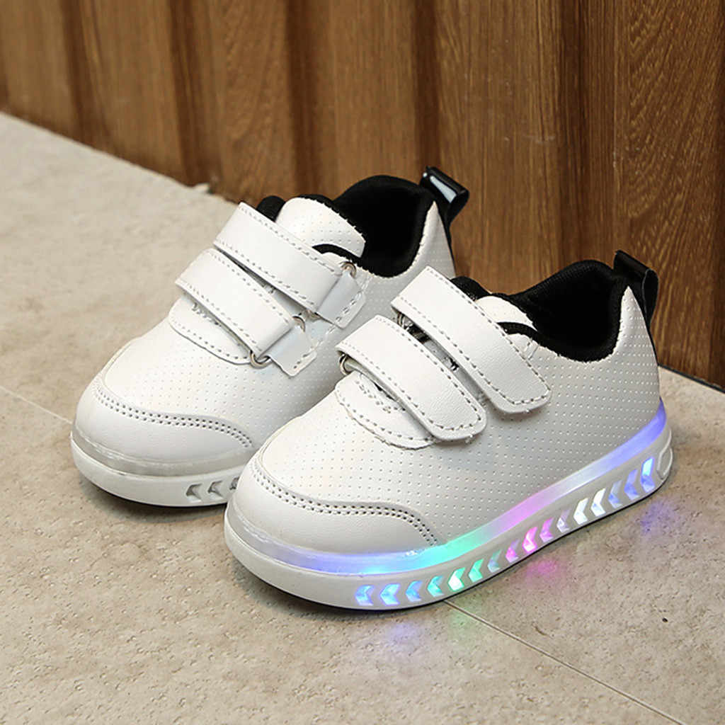 New Children Luminous Shoes  Infant Toddler Baby Girls Boys Light LED Luminous Sport Running Shoes Sneakers 15M-7Y