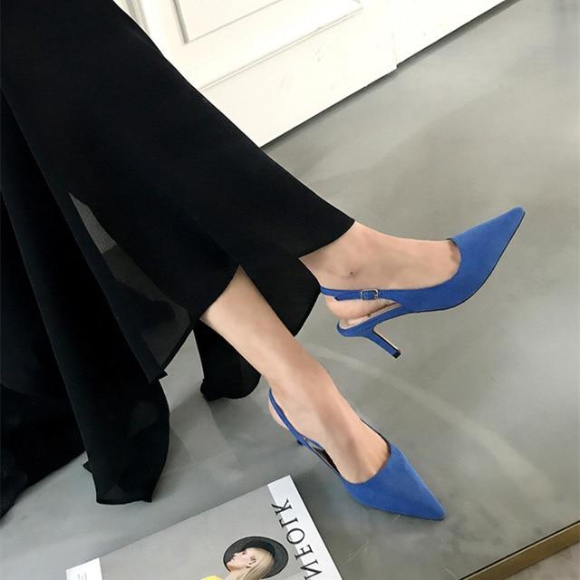 Женские туфли-лодочки на высоком каблуке 4