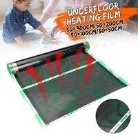 50-300cm underfloor infravermelho aquecedor elétrico piso aquecimento filme quente esteira laminado/sistema de aquecimento de piso sólido
