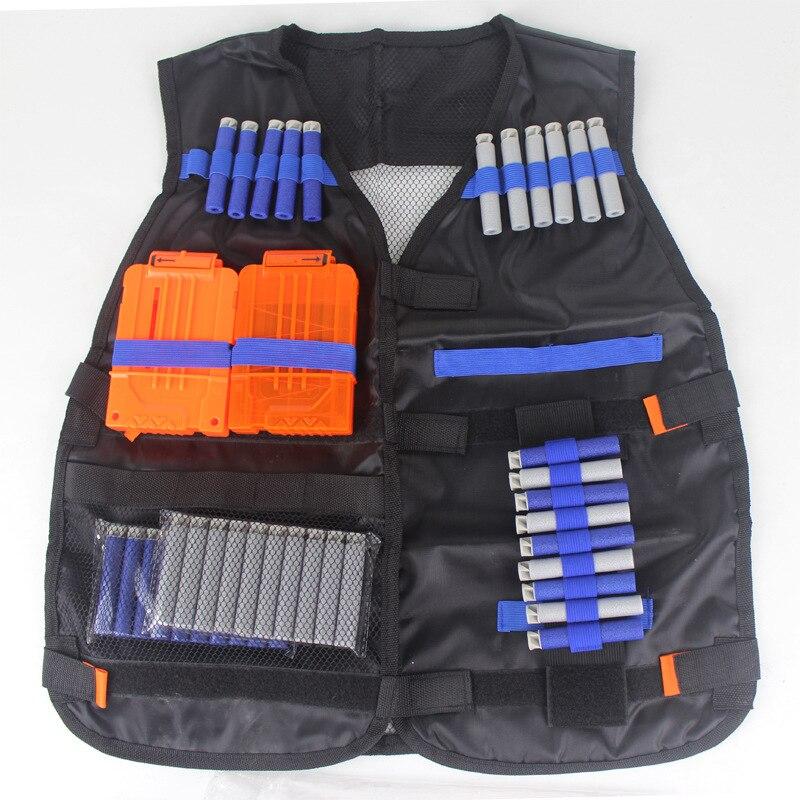 Tactical Vest Jacket Vest Magazine Ammunition Holder N-Strike Elite Pistol Bullet Toy Gun Clip Darts Multi-function Body Jacket