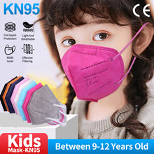 9-12 años FFP2 Children kn95Mask Kids FFP2 Approved hygienic niñas Color Mask mascarillas ffp2reutilizable mascherina fp2 niños