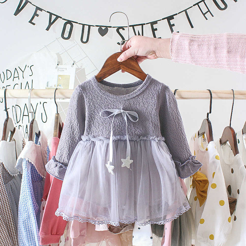 LOOZYKIT Autumn Infant Baby Dress Cotton Toddler Princess Lace Dress Christmas Party Dresses for Girls Fashion Baby Girl Clothes