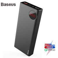 Baseus 20000mAh Power bank PD3.0 Quick Charger Outdoor Travel Charger For iPhone Xs Max Xr X 8 Plus Power Bank For Samsung