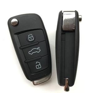 Image 2 - 3 boutons étui à clé à distance pour VW VolksWagen Skoda siège Bora Pasha AUDI A6 remplacement voiture pliable clé porte clés coquille