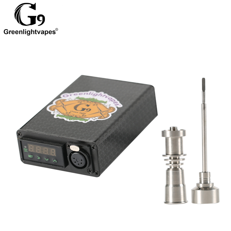 Greenlightvapes G9 e ongles bricolage bobine chauffage PID contrôle de température numérique mini enail e nail pour verre bong plates formes chauffe cire vape - 4