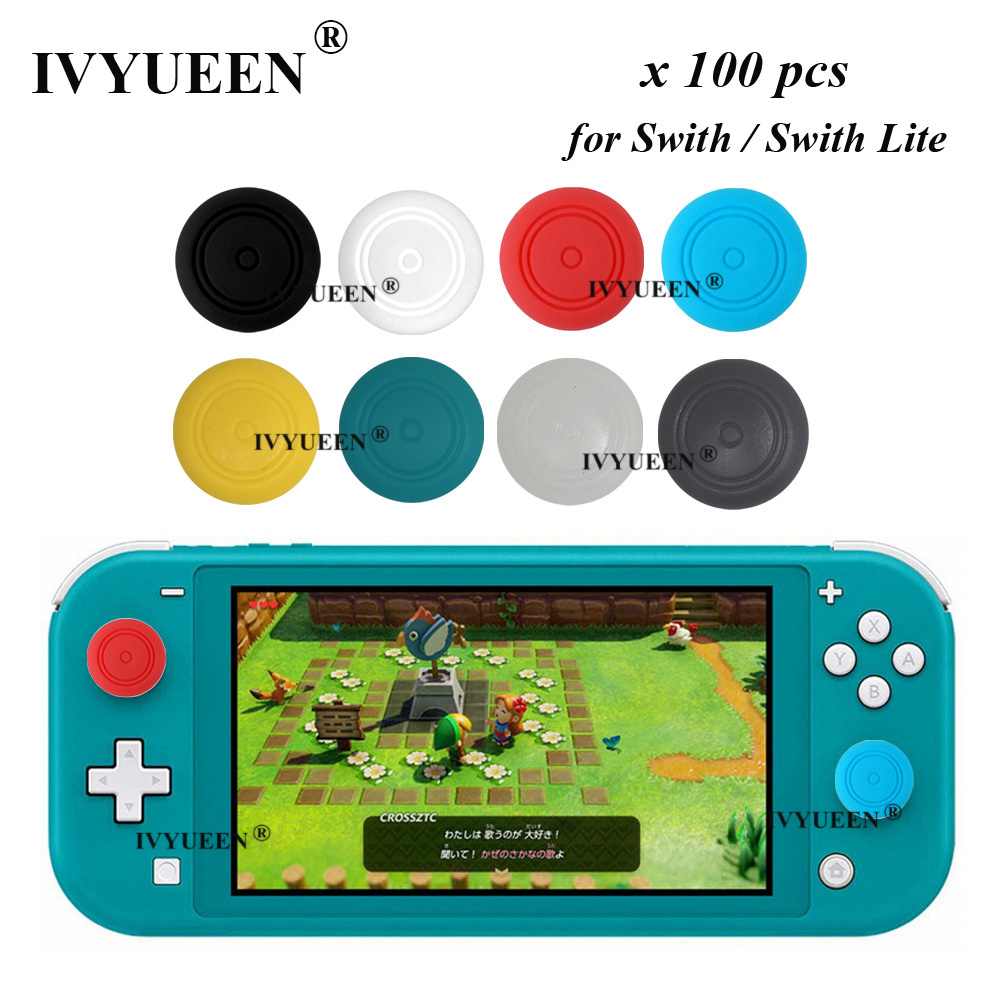 IVYUEEN 100 Pcs For Nintend Switch Joy-Con Controller Silicone Thumb Sticks Grips Cover For NS Joy Con Stick Caps Accessories