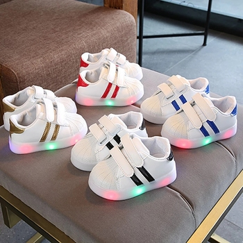 New Brand Cool Boys Girls Infant Tennis LED Lighted Classic Leisure Kids Sneakers Cute Hot Sales Children Casual Shoes hot sales high quality led lighted children casual shoes classic cool solid boys girls toddlers tennis fashion kids sneakers