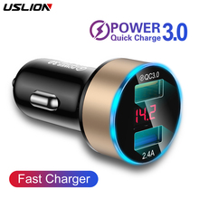 USLION Quick Car Charger For Mobile Phone Universal Dual Usb