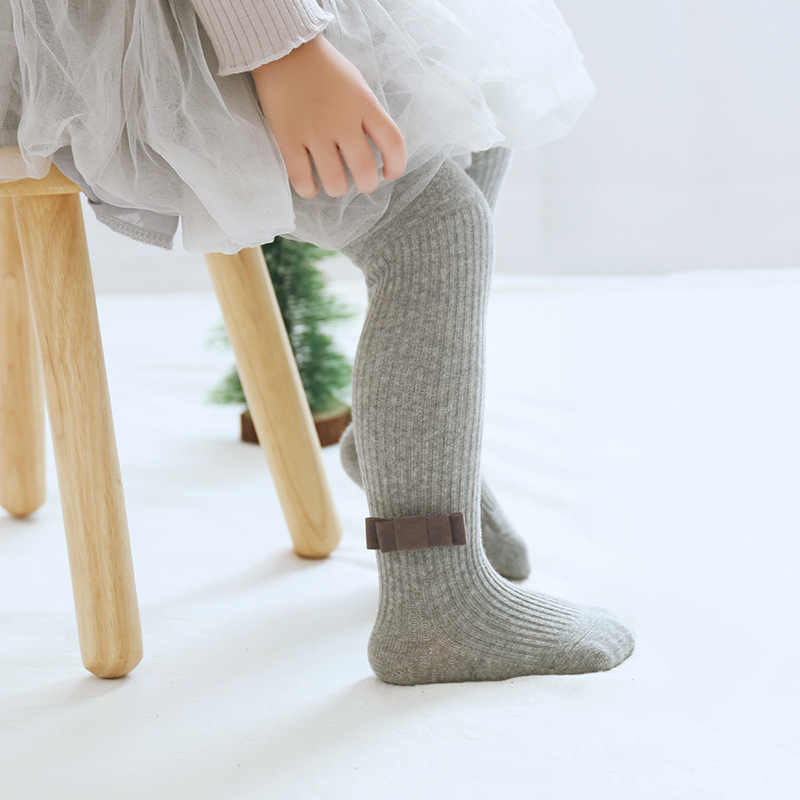 Gadis Kecil Celana Ketat Lucu Kawaii Bow Pantyhose Anak Anak Balita Kaus Kaki Musim Gugur Musim Dingin Hangat Bayi Rumah Outdoor Wear