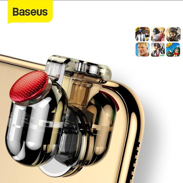 Baseus для Pubg игровой геймпад L1 R1 геймпад триггер для iPhone XR Xs Max Aim Fire кнопка для 4,0 6,5 дюймов Мобильный телефон Аксессуары
