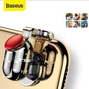 Image 1 - Baseus for Pubg Game Gamepad L1 R1 غمبد الزناد ل آيفون XR Xs ماكس الهدف النار زر ل 4.0 6.5 بوصة ملحقات الهاتف المحمول