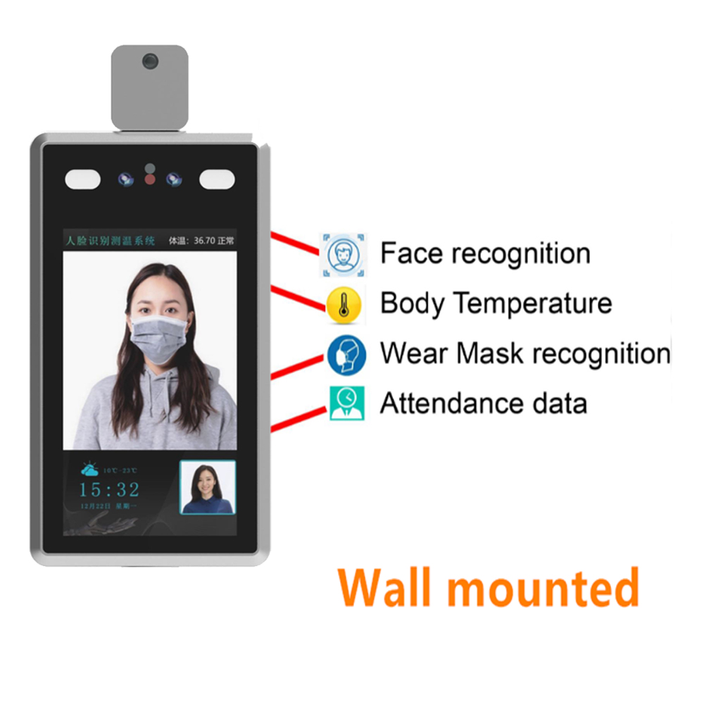 Body Temperature Face Recognize Thermo Imaging System Camera Thermography Imaging System Access Control Non-contact Voice Alarm