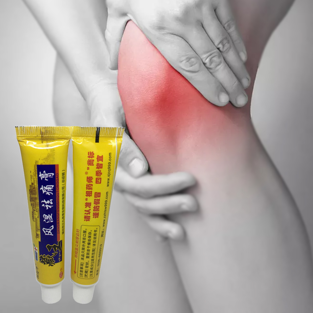 15g Knee Analgesic Cream Tube Plaster Herbal Joint Back Balm Pain Relief Topical Health Care Treat Rheumatoid Arthritis Ointment
