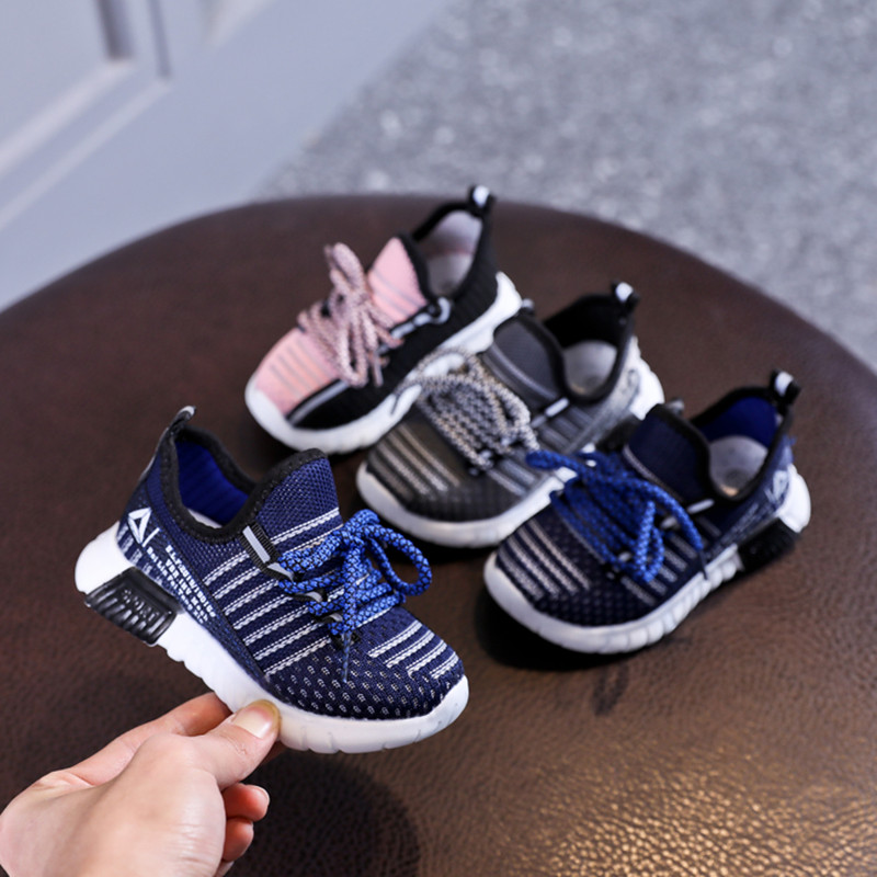 Spring/Autumn Children Shoes Unisex Toddler Girls Boys Sneakers Mesh Breathable Sport Shoes Fashion Kids Shoes EU 21-30