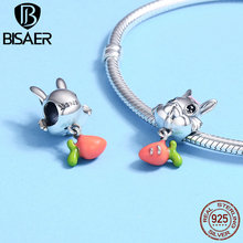 100% 925 Sterling Silver Lovely Animal Bead, Carrot & Rabbit Charms Beads Fit Charm Silver 925 Bracelet Beads & Jewelry Making charms beads 100