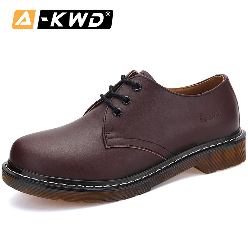 Fashion Shoes 2019 Lace-up Low Help Men Boots Soulier Homme Plus Size Shoes 35-45 Wear Resistent Men Loafers Shoes Spilt Leather