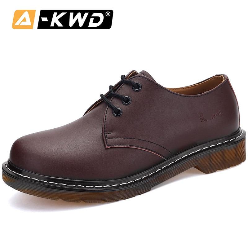 Fashion Shoes 2019 Lace-up Low Help Men Boots Soulier Homme Plus Size Shoes 35-45 Wear Resistent Men Loafers Shoes Spilt Leather