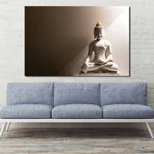 White Marble Buddha Wall Art Canvas Minimalist Posters Prints Painting Oil Wall Pictures Office Living Room Home Decor Artwork
