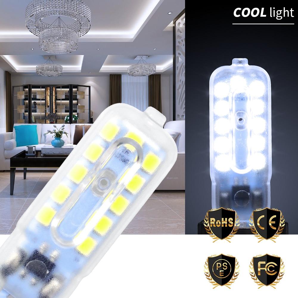 Купить с кэшбэком G9 LED Light Mini Dimmable Bulb G4 LED Lampen 220V SMD 2835 Warm/White Crystal Chandelier Replace No Flicker 360 Degree Lighting