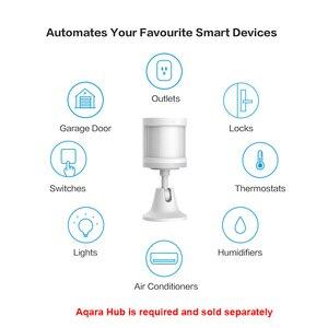 Image 2 - Sensor de movimiento Xiaomi Aqara, cuerpo inteligente, PIR, cuerpo humano, inalámbrico, Wifi, Zigbee, con Hub de enlace para aplicación Mi Home