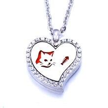 Арома медальон в форме сердца ожерелье Магнитная ароматерапия