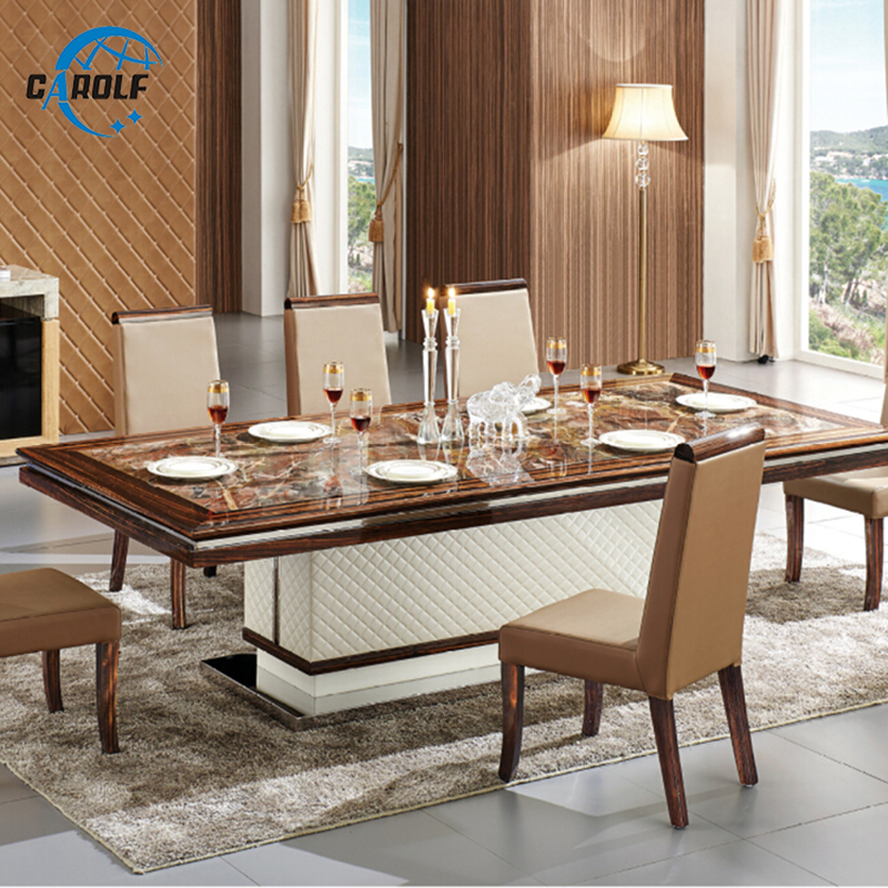 Furniture Table Customzied Modern Design Marble Top 8 Persons Dining Table