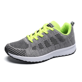 Women & Men Unisex  Breathable Sneakers Casual Leisure Running Sports Tennis Shoes Mesh Lace-up Walking Shoes new fashion men casual shoes 2017 summer breathable mesh flat shoes adults unisex lace up leisure walking shoes zapatillas