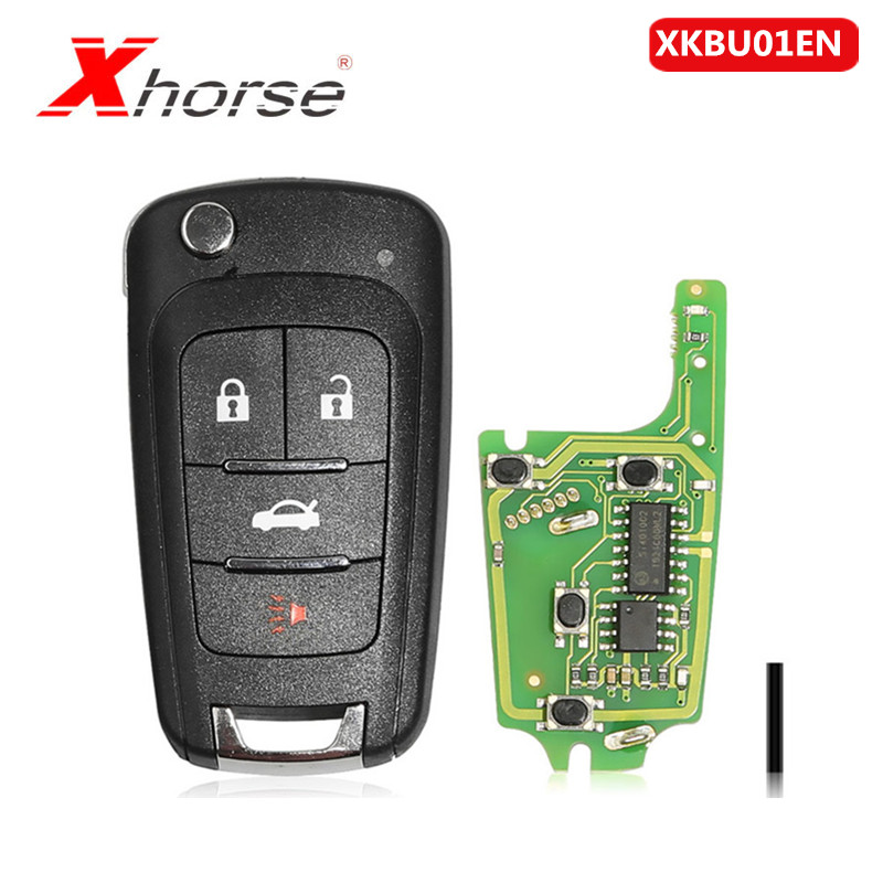 Xhorse VVDI2 Wireless Remote Key Fob For Buick 4 Buttons Remotes XKBU01EN Key Type1Piece