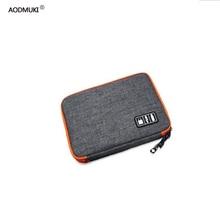 waterproof Ipad organizer USB data cable earphone wire pen power bank travel storage box kit case digital gadget devices