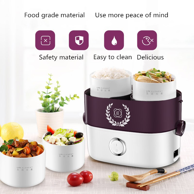 Small Portable Electric Lunch Box Multi-function Rice Cooker Independent Liner Single and Double Layer Combination Rapid Heating