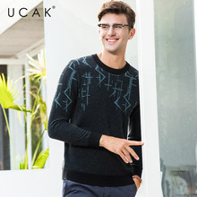 UCAK Brand 100% Merino Wool Sweater Men Pull Homme 2019 New Arrival Pullover Men Autumn Winter Warm Cashmere Mens Sweaters U3076