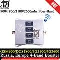 900/1800/2100/2600mhz Vier-Band 4g Netzwerk Cellular verstärker 2G 3G 4g Mobile Signal Booster LTE UMTS GSM DCS 4G Signal Repeater