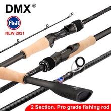 DMX PISTA 2 Section FUJI canne à pêche filature coulée canne de voyage 7-42g 1.98 2.10. 2.24 m Baitcasting ML M MH canne à pêche