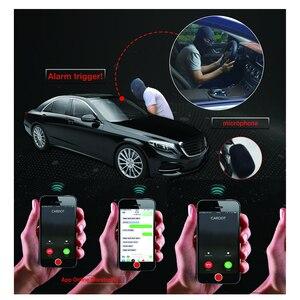 Image 4 - Cardot yeni 4g Gps Gsm akıllı Pke anahtarsız giriş uzaktan marş Start Stop motor araba alarmı