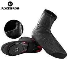 ROCKBROS Велоспортный теплый обувной чехол с закрытой пяткой зимние ветрозащитные MTB велосипедные оборудования галоши протектор теплее загрузки Обложка 2 Размеры 2 цвета